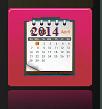pink calendar